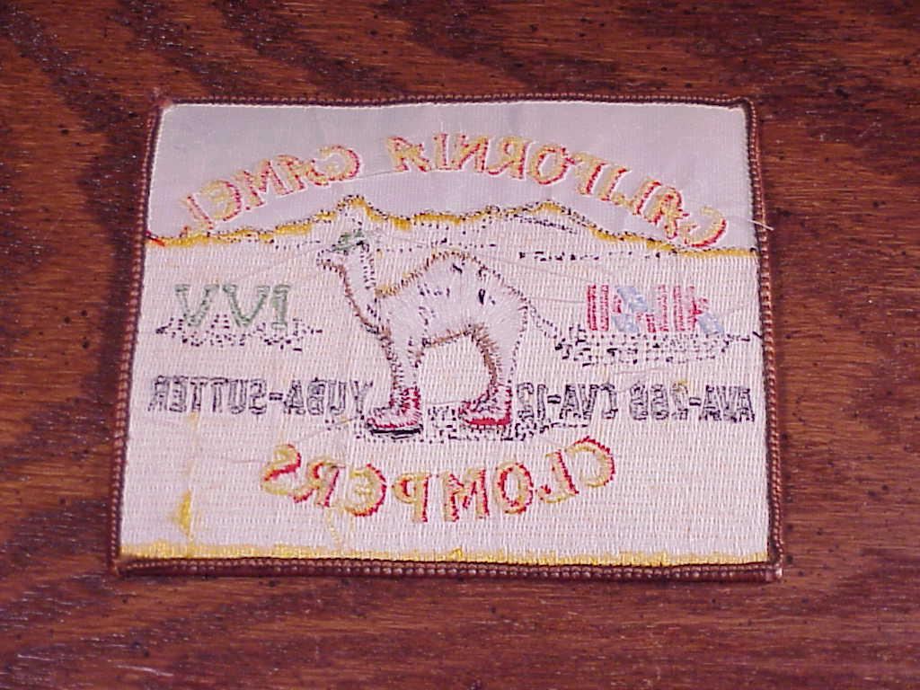 American Volkssports Association California Camel Clompers Yuba Sutter Patch AVA