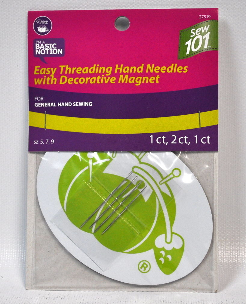 Dritz Ballpoint Hand Needles With Decorative Magnet 27518