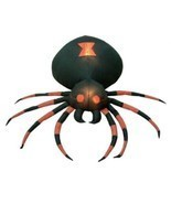 4 Foot Wide Halloween Inflatable Black Spider Yard Decoration - £41.21 GBP