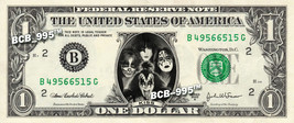KISS on REAL Dollar Bill Cash Money Collectible Memorabilia Celebrity Bank Note - $5.55