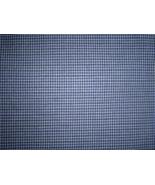 Dark Blue and White Mini Check Cotton Fabric    - $15.00