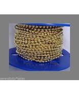 10 Feet 3.2mm Bead Brass Plated BALL Chain + 30... - $9.26