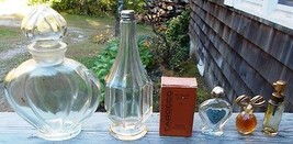~ Lot of 4 Vintage Perfume Bottles/Decanters ~ ... - $15.00