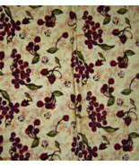 Creamy Yellow with Red and Blueberries Cotton F... - $5.00