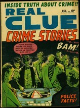 Real Clue Crime Stories Vol. 5 #10 1950- Roulette Gambling cover G/VG - $55.87