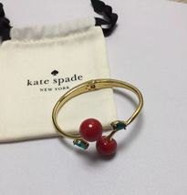 Kate Spade ma cherie cherry open hinged cuff Bracelet With KS Dust Bag New - $38.00