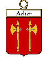 Acher French Coat of Arms Print Acher French Fa... - $25.00