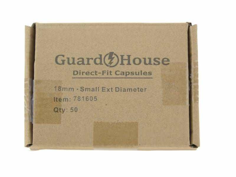 Guardhouse Dime 18mm Direct Fit Coin Capsules, 50 pack
