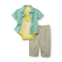 Little Wonders Newborn & Infant Boy's Bodysuit Button-Front Shirt outfit... - $12.59