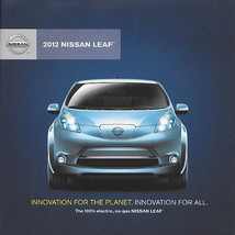 2012 Nissan LEAF ELECTRIC car sales brochure folder US 12 - $9.00