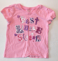 Children's Place Toddler Girls T-Shirt Best Little Sister Size 18-24M VGUC - $8.72