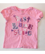 Children's Place Toddler Girls T-Shirt Best Little Sister Size 18-24M VGUC - $8.72
