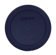 Pyrex Blue 2 Cup Round Storage Cover 7200PC for Glass Bowls 4Pack 7200-P... - £10.60 GBP