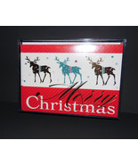 Christmas cards box of 16 with  Envelopes  reindeer     NIB - $7.27