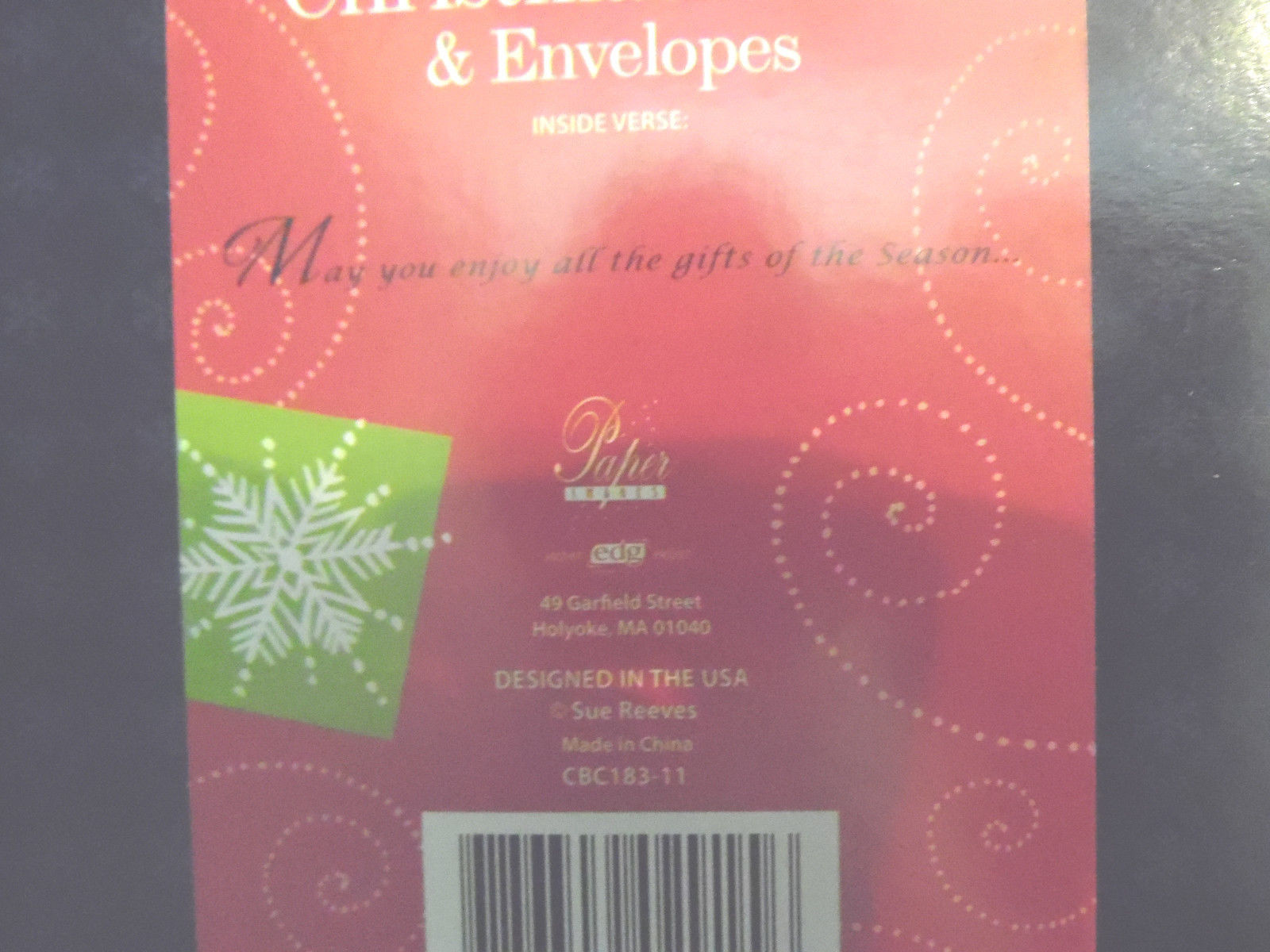 Christmas cards box of 16 with  Envelopes  reindeer     NIB