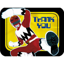 POWER RANGERS THANK YOU NOTES Cards Birthday Party Child Boys Red Ninja ... - $5.01
