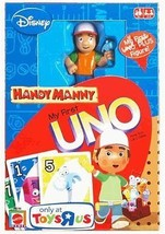 HANDY MANNY MY FIRST UNO & FIGURE King-Size Cards Game Disney Preschool ... - $11.74