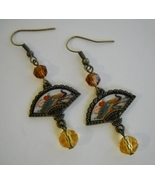 Earrings amber fan  1    3 thumbtall
