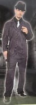 GANGSTER XL MEN'S COSTUME Adult Halloween Criminal Mafia Pin-Striped Sui... - $33.62