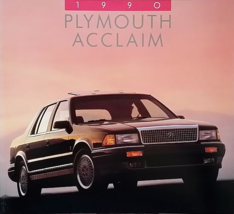 1990 Plymouth ACCLAIM sales brochure catalog US 90 LX LE - $6.00