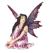 Purple Flower Fairy  Statue Fairyland Legend Ada Flor Morado - $19.99