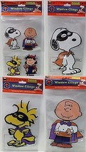 7 PC PEANUTS WINDOW CLINGS Halloween Decoration... - $23.27