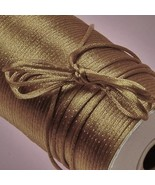 100 feet Antique GOLD SATIN CORD 2mm Rat Tail R... - $7.81