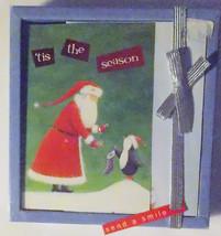 Christmas Cards Box of 16 with  Envelopes Santa Claus and Penguins   NIB - $6.30