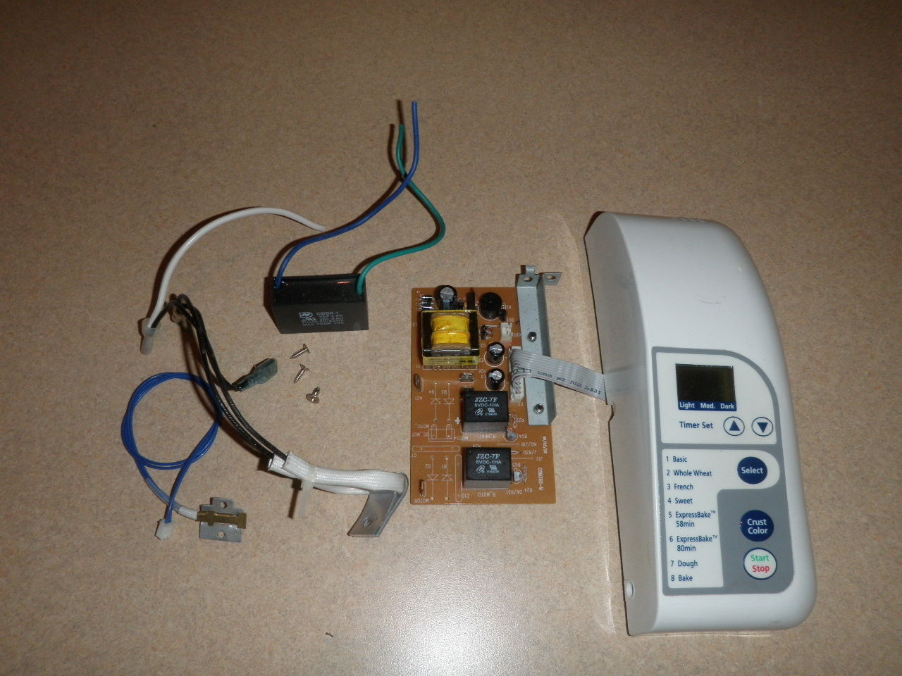 Primary image for Oster Bread Machine 5834 Control Panel, PCB, Fuse, Sensor, Capacitor
