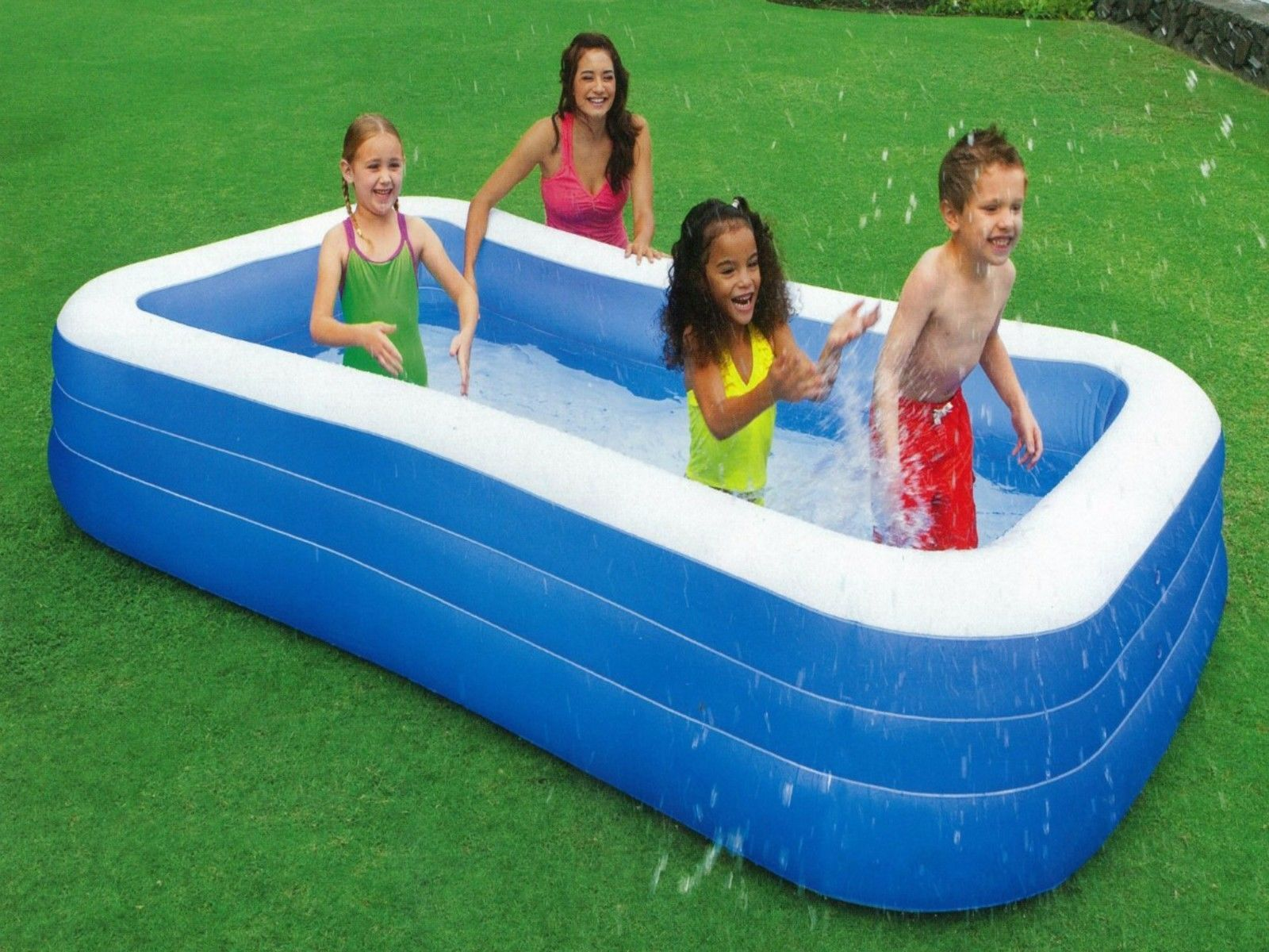 blow up swimming family pool inflatable backyard large splash swim ground new inflatable kid
