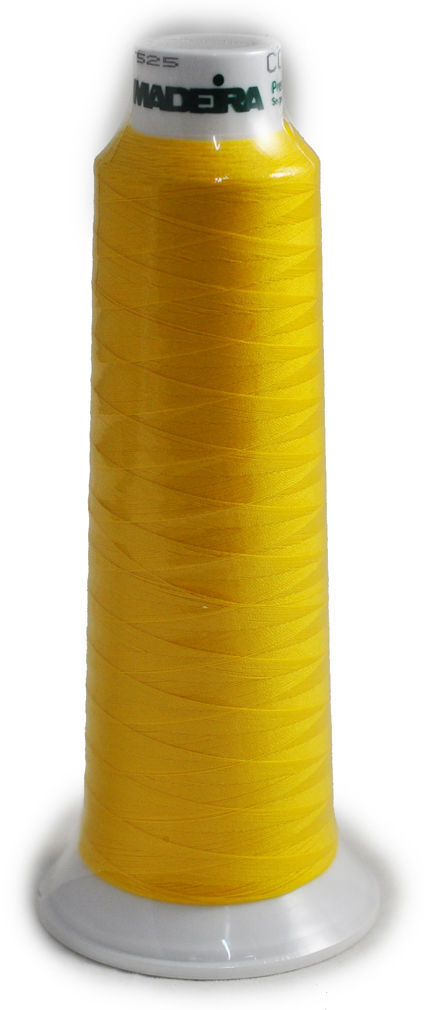 Madeira Poly Yellow 2000YD Serger Thread   91289360