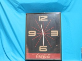 COCA-COLA COKE WALL HANGING CLOCK BATTERY OPERA... - $42.54