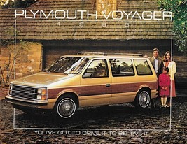 1985 Plymouth VOYAGER brochure catalog 1st Edition US 85 LE SE - $6.00