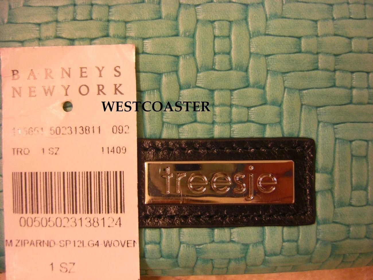 treesje zip around small wallet *turquoise* NWT