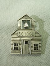 Jonette Jewelry JJ Schoolhouse Pewter Teacher Theme Brooch Novelty Pin S... - $24.75