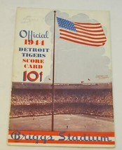 1944 Detroit Tigers Baseball Schedule vs Chicago White Sox Unscored EX - $48.51