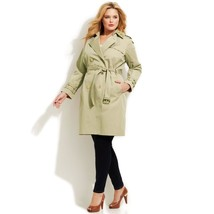 MICHAEL Michael Kors Embellished Collar Double-Breasted Trench Coat (Siz... - $225.00