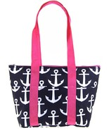 Anchor Print Shoulder Tote Insulated Lunch Bag ... - $19.79