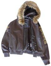 Excelled Girls Looney Tunes Tweety Leather Jacket (L, Brown) - $98.95