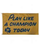 Notre Dame Fighting Irish WinCraft Gold Play Like A Champion Today Flag ... - $22.49