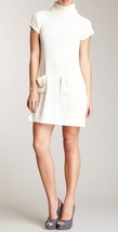 Calvin Klein White Turtleneck Pocket Dress Size Small NWT $138 - $63.60