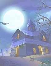 Halloween Haunted House Cat & Bats Stationery Printer Paper 26 Sheets - $9.89