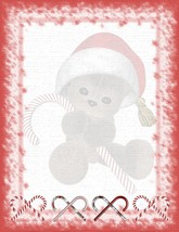 Christmas Teddy Bear With Candy Cane Stationery Printer Paper 26 Sheets - $9.89