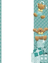 NEW Christmas Gingerbread & Gifts Stationery Printer Paper 26 Sheets - $9.89