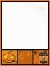 Halloween Booo Stationery Printer Paper 26 Sheets - $9.89