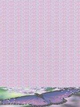 NEW Purple Blue Butterfly Letterhead Stationery Paper 26 Sheets - $9.89