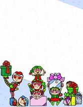 NEW Christmas Elves & Gifts Letterhead Stationery Paper 26 Sheets - $9.89