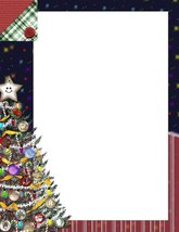 NEW Christmas Tree Letterhead Stationery Paper 26 Sheets - $9.89