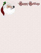 Santa Claus Happy Holiday Laser and Inkjet Printer Paper 26 Sheets - $9.89