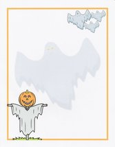 Halloween Ghost Scarecrow Stationery Printer Paper 26 Sheets - $9.89